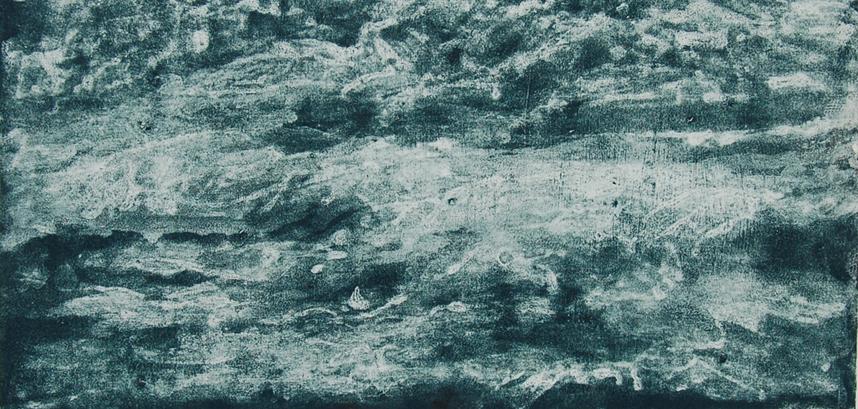 Storm surge, carborundum, 45 x 58 slide sh